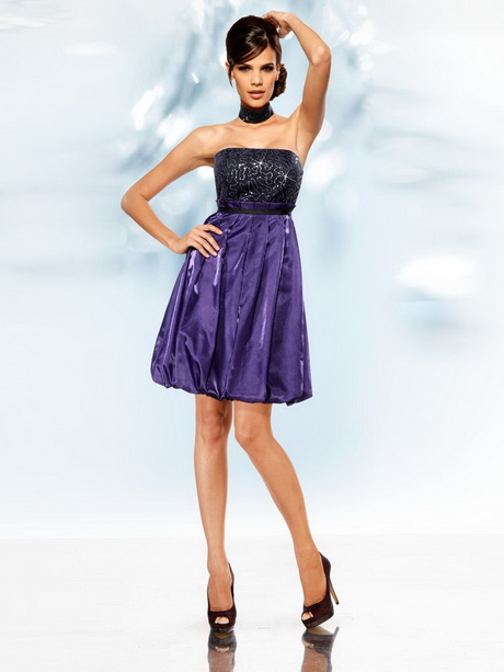 robe de soir e violette courte. Black Bedroom Furniture Sets. Home Design Ideas