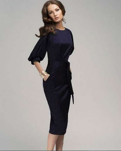 robe femme classique. Black Bedroom Furniture Sets. Home Design Ideas