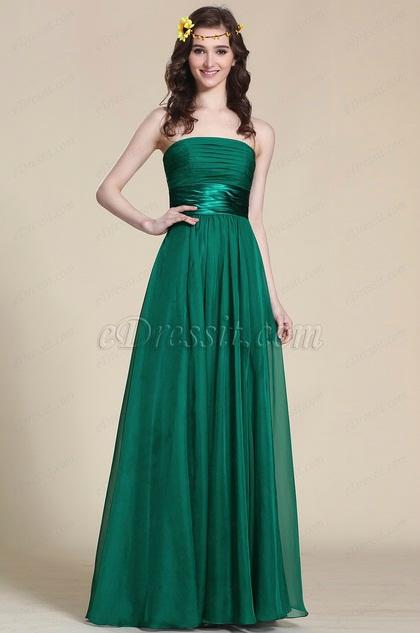 Robe longue emeraude for Robe vert aqua pour mariage