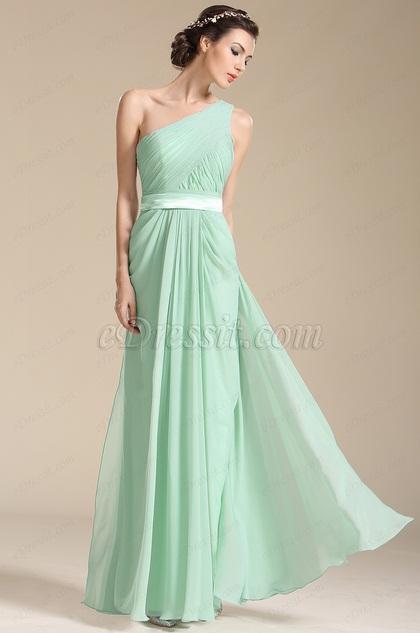 robe longue vert d eau