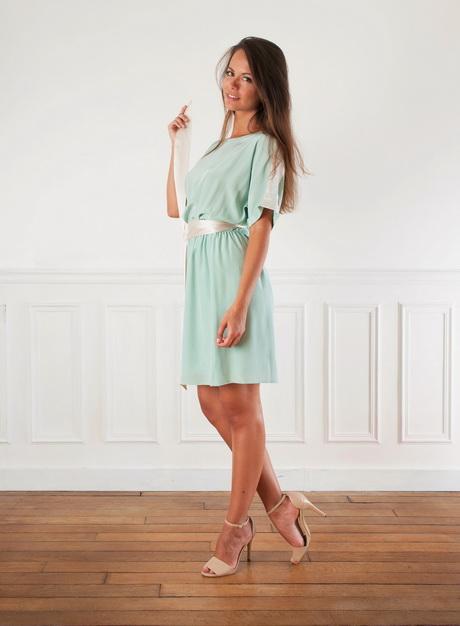 Robe vert eau for Plus la taille robes de mariage washington dc