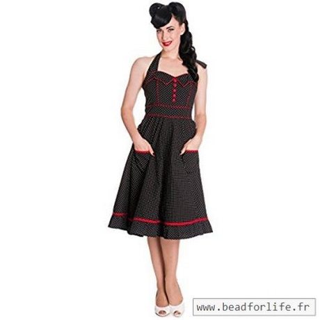 robe noire ann es 50. Black Bedroom Furniture Sets. Home Design Ideas