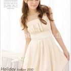 Robe de cocktail beige