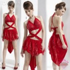 Robe salsa rouge