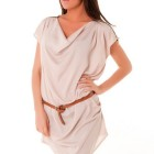 Robe tunique beige