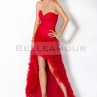 Robe de cocktail rouge courte