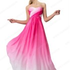 Robe soiree rose