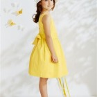 Robe ceremonie fille jaune