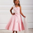 Robe ceremonie fille rose pale