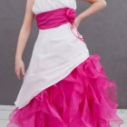 Robe ceremonie fushia fille
