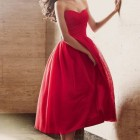 Robe temoin mariage rouge