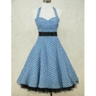 Robe rockabilly bleu