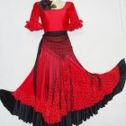 Robe rouge flamenco
