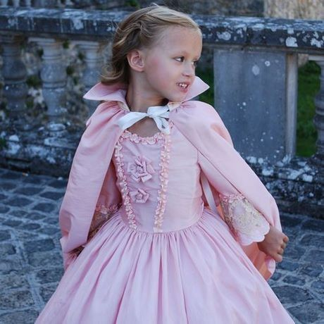 Robe de princesse fille rose