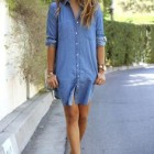 Robe en jean denim