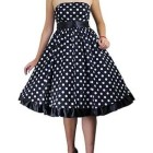 Robe rockabilly pois