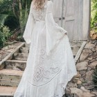 Robe longue blanche chic