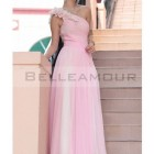 Robe de cocktail longue rose