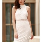 Robe fourreau blanc