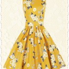 Robe jaune cocktail