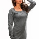 Robe pull grise