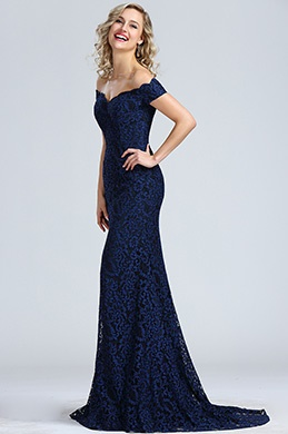 Robe bleu marine cocktail